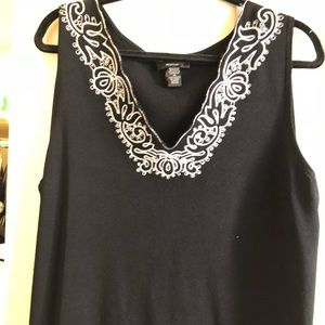 Tops - Plus size embellished tank top